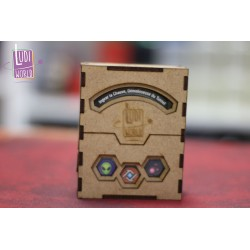 Deck Box Bois Keyforge Ludiworld - Design Hexagone