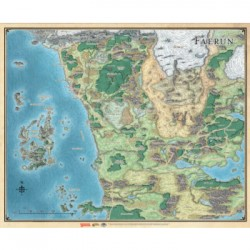 D&D: Sword Coast Adventurer's Guide Faerûn Map