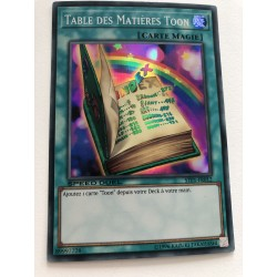 Table des Matières Toon - Speed Duel - YuGiOh TCG