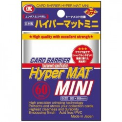Sachet de 60 Protèges cartes KMC Small Sleeves - Hyper Mat Clear