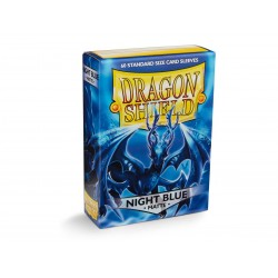 60 Petites Protèges Cartes Taille Standard - Dragon Shield - Night Blue 'Xon'