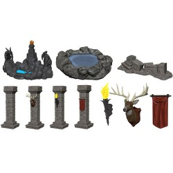 WizKids Miniatures: Fantasy Terrain: Painted Pools & Pillars (Set 1)