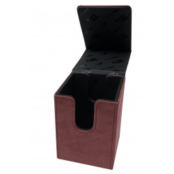 Suede Collection Alcove Flip Deck Box - Ruby- Ultra Pro