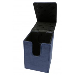 Suede Collection Alcove Flip Deck Box - Sapphire - Ultra Pro