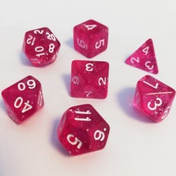 Lots de Dés - 16mm - Role Playing Dice Set - Brillant Rose