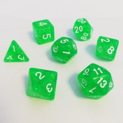 Lots de Dés - 16mm - Role Playing Dice Set - Brillant Vert