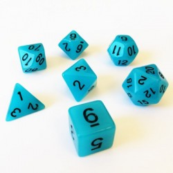 Lots de Dés - 16mm - Role Playing Dice Set - Brille dans la Nuit Bleu