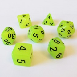 Lots de Dés - 16mm - Role Playing Dice Set - Brille dans la Nuit Jaune