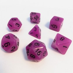 Lots de Dés - 16mm - Role Playing Dice Set - Brille dans la Nuit Violet