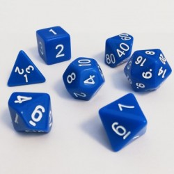 16mm Role Playing Dice Set - Blue (7 Dice)