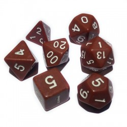 Blackfire Dice - 16mm Role Playing Dice Set - Brown (7 Dice)