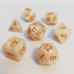 Divers - Dés - Lots de Dés - 16mm - Role Playing Dice Set - Perle Blanc