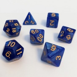 Divers - Dés - Lots de Dés - 16mm - Role Playing Dice Set - Perle Bleu