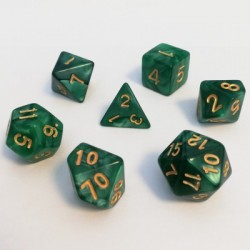 Divers - Dés - Lots de Dés - 16mm - Role Playing Dice Set - Perle Vert