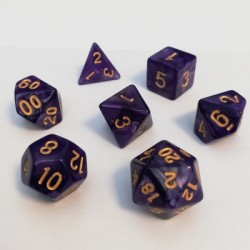 Divers - Dés - Lots de Dés - 16mm - Role Playing Dice Set - Perle Violet
