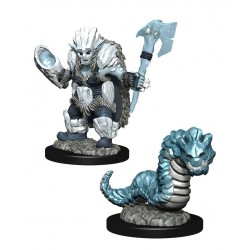 WizKids Wardlings assortiment packs 2 miniatures Ice Orc & Ice Worm