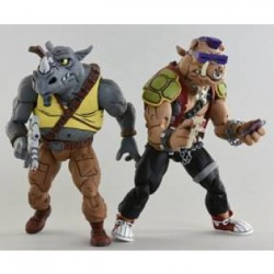 Cartoon Series 2 Rocksteady and Bebop 2 pack Action Figures 18cm - Teenage Mutant Ninja Turtles