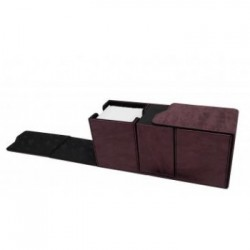 UP - Suede Collection Alcove Vault Deck Box - Ruby