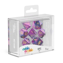 Oakie Doakie Dice dés RPG-Set Speckled - Gemidice - Amethyst