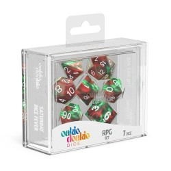 Oakie Doakie Dice dés RPG-Set Speckled - Bloody Jungle
