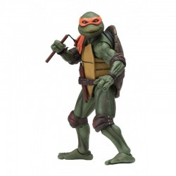 LES TORTUES NINJA ( TEENAGE MUTANT NINJA TURTLES TMNT ) 1990 MOVIE ACTION FIGURINE MICHELANGELO 18 CM