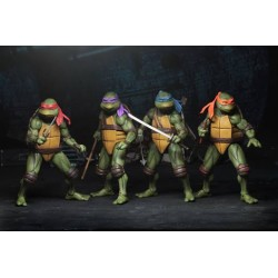 LES TORTUES NINJA - Collection des 4 Figurines du film de 1990
