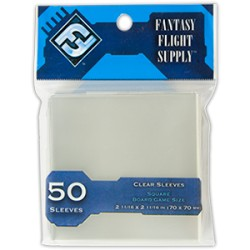 "Protèges cartes ""Square Card Sleeves"" FFG - Clear"