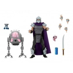 LES TORTUES NINJA - PACK 2 FIGURINES SHREDDER VS KRANG IN BUBBLE WALKER - Teenage Mutant Ninja Turtles