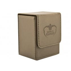 Flip Deck Case Simili Cuir 80 Cartes Sable