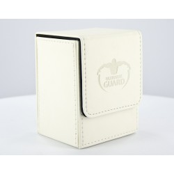 Flip Deck Case Simili Cuir 80 Cartes Blanc