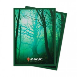100 Protège-Cartes Magic The Gathering - Unstable Lands Forrest - Forêt