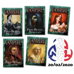 Lot des 5 Decks d'initiation First Blood - Vampire The Eternal Struggle