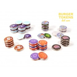 Burger Tokens : Set de jetons Android Netrunner