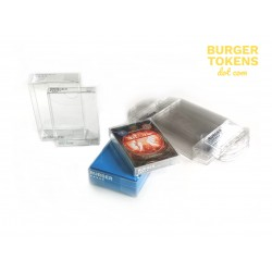 Burger Tokens : lot de 5 boites / Deck Box 37 Cartes