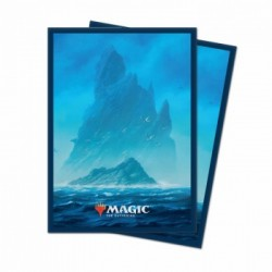 100 Protège-Cartes Magic The Gathering - Unstable Lands Island - Ile