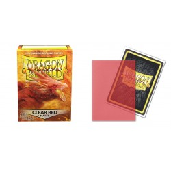 Protèges cartes Dragon Shield - Matte Clear Red 'Ignicip'