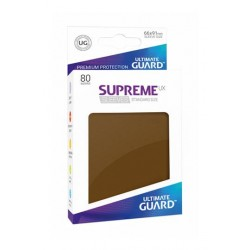 80 Protèges Cartes Supreme UX Sleeves taille standard Marron - Ultimate Guard