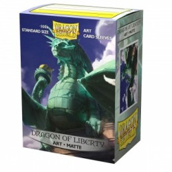 100 Protèges cartes Dragon Shield Illustrés Dragon of Liberty Standard