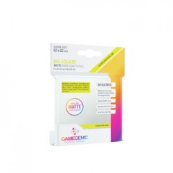 Sachet de 50 protèges cartes Carré Grand 82 x 82 mm - Transparent Matte - Gamegenic