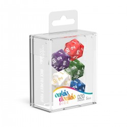 Oakie Doakie Dice set dés Spindown D20 Marble