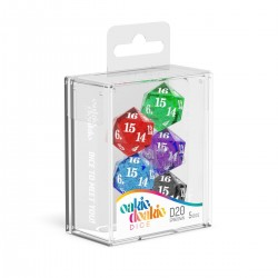 Oakie Doakie Dice set dés Spindown D20 Speckled