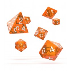 Oakie Doakie Dice dés RPG-Set Translucent - Jaune