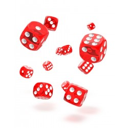 Oakie Doakie Dice dés D6 12 mm Translucent - Rouge
