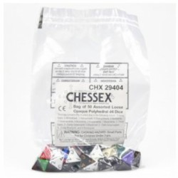 Dé D4 Opaque - Chessex