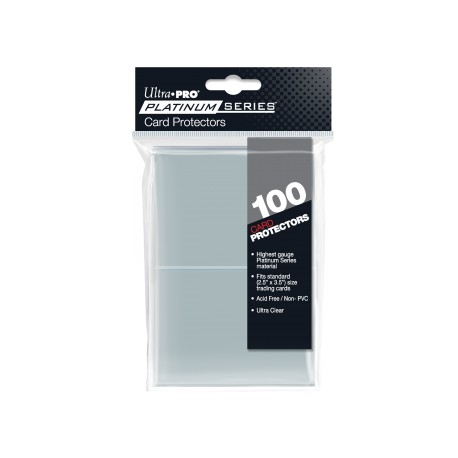 100 Protèges cartes Platinium Series taille standard Ultra Pro - Clear
