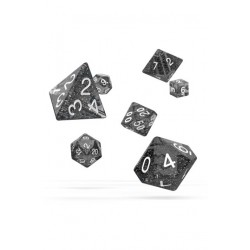 Oakie Doakie Dice dés RPG-Set Speckled - Noir