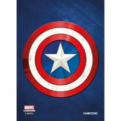 Sachet de 50 protèges carte taille standard Marvel Champions Art Sleeves - Captain America - Gamegenic