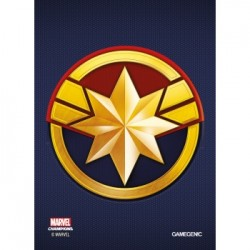 Sachet de 50 protèges carte taille standard Marvel Champions Art Sleeves - Captain Marvel - Gamegenic