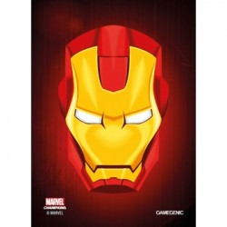 Sacher de 50 protèges carte taille standard Marvel Champions Art Sleeves - Iron Man - Gamegenic