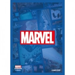 Sacher de 50 protèges carte taille standard Marvel Champions Art Sleeves - Marvel Blue - Gamegenic